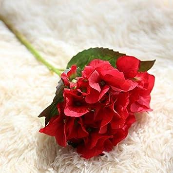 Zhudj Hydrangea Flores Secas Emulación De Planta En Maceta