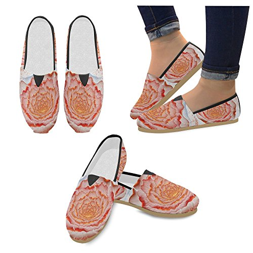 D-Story Fashion Sneakers Flats Fractal Flower Womens Classic Slip-on Canvas Shoes Loafers vL9WEKTa64