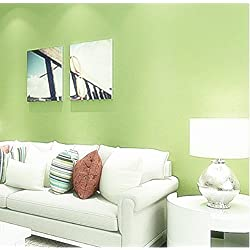 Blooming Wall Peel&Stick Prepasted Contact Wallpaper Wallcoverings for Wall,23.6in x 19.7ft,Green