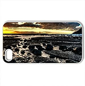 Splendor - Case Cover for iPhone 4 and 4s (Beaches Series, Watercolor style, White)