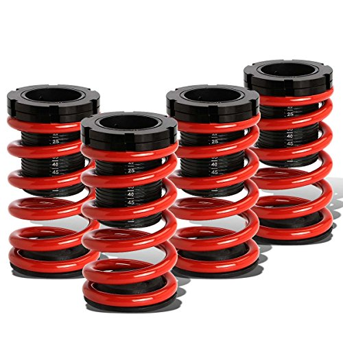 For Dodge Neon 2nd Gen Adjustable Coilover Suspension Lowering Spring (Red) (Coil Dodge Neon)