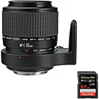 Canon (2540A002) MP-E 65MM F2.8 1-5X MACRO Lens + Sandisk Extreme PRO SDXC 64GB UHS-1 Memory Card