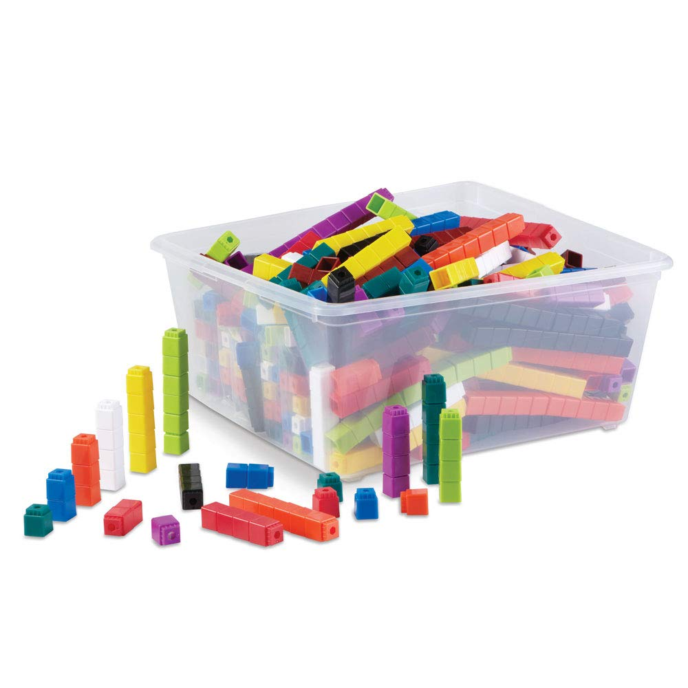 hand2mind Interlocking UniLink Cubes, Plastic Cubes for Early Math, Connecting Cubes for Kids Learning, Math Manipulatives, Counting Cubes for Kids Math, Preschool Classroom Supplies (Set of 2000)