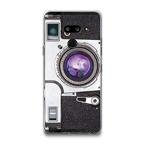 CasesByLorraine LG G8 ThinQ Case, LG G8 Case, Vintage Style Camera Case Flexible TPU Soft Gel Protective Cover for LG G8 ThinQ (2019) (A96)