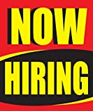 Now Hiring 18''x24'' Store Business Retail Sale Display Signs