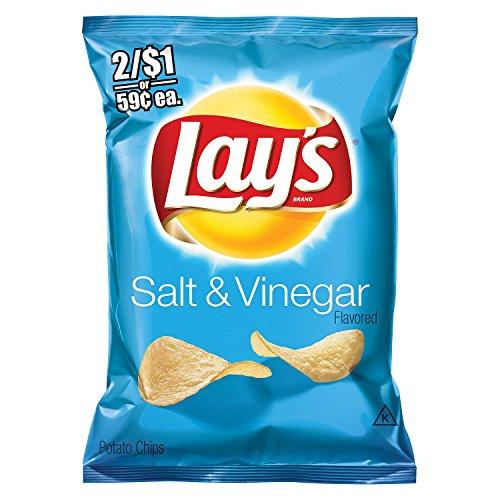 Lay's Salt & Vinegar Potato Chips (1.125 oz. ea., 44 ct.) - (Original from manufacturer - Bulk Discount available) -