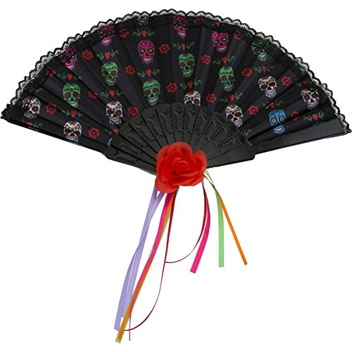 Day Of The Dead Folding Fan - Your Photo Own Creating Booth