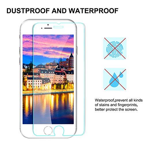 Aonsen iPhone 8 Plus/7 Plus/6 Plus/6S Plus Protector de Pantalla, [2 Pack] Full Coverage Cristal Templado para Galaxy S7 Protector de Pantalla, ...