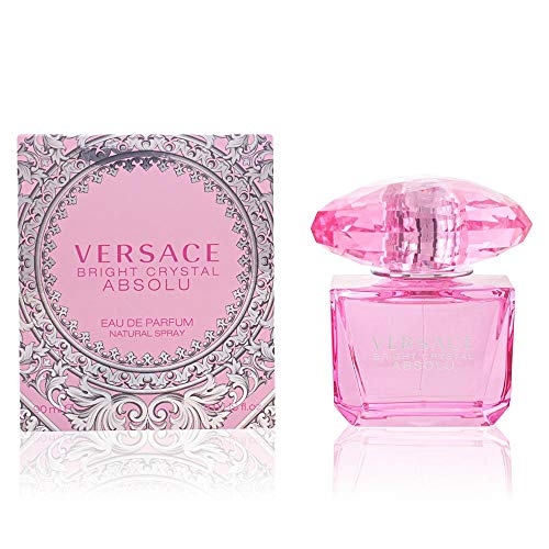 Versace Bright Crystal Absolu Eau de Parfum Spray for Women, 3 Ounce (Perfume Crystal Bright)
