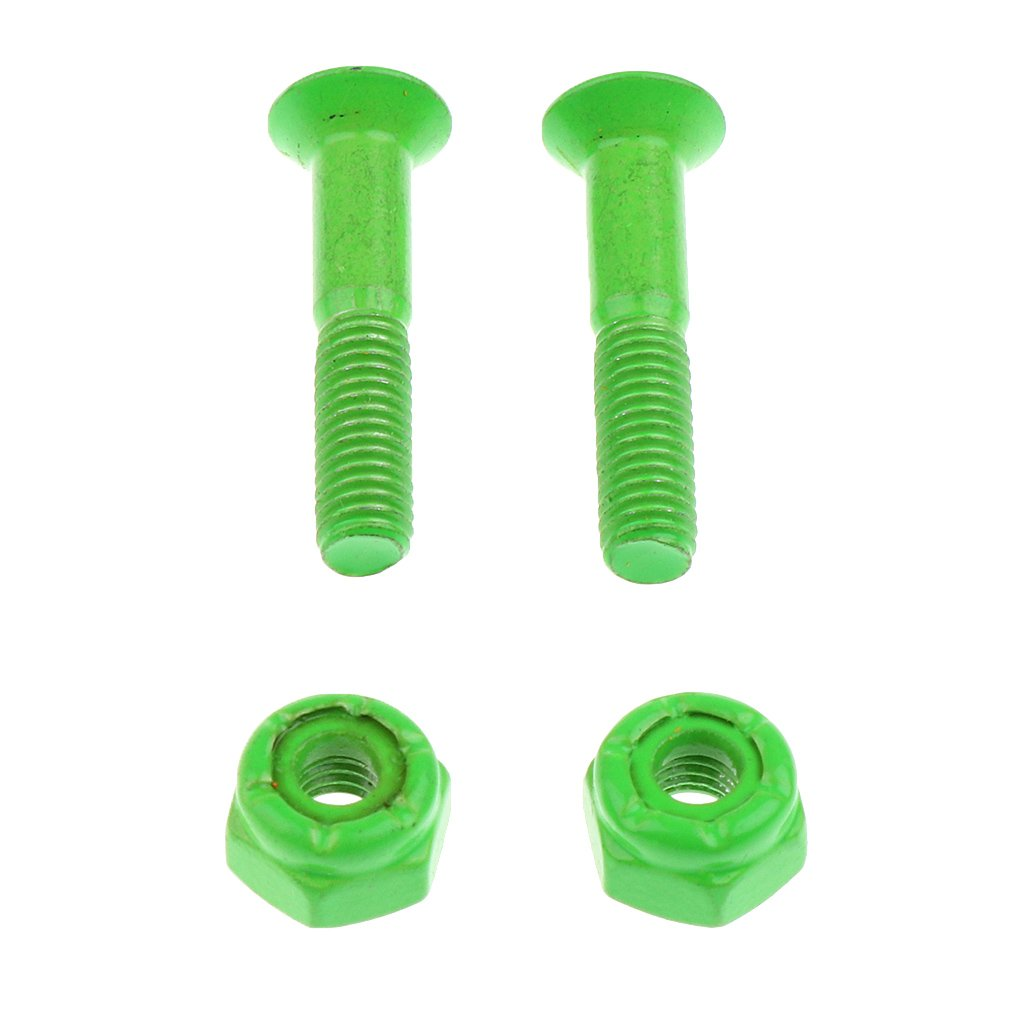 Wrench Skateboard Longboard Hardware 25mm//1 inch Multi-color MagiDeal 1 Set 8 Pieces Bolts//Nuts