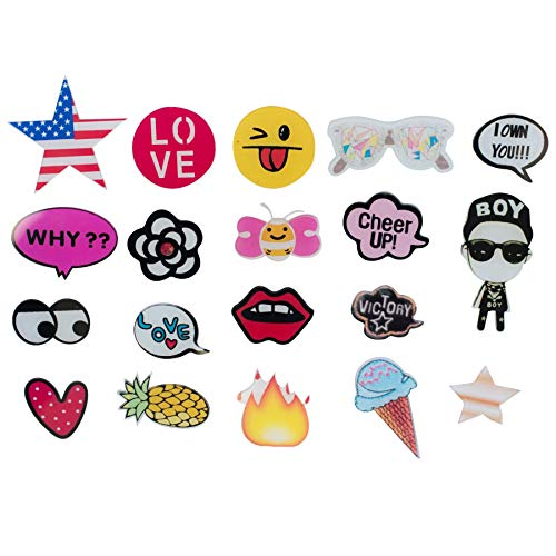 Special100% Acrylic Brooches Set of Lovely Cute pins,Lapel pin,Cool Pins for Clothes,pin,pins for Backpacks,Bags,Badges,Hats,Jeans, Jacket and More.(20 Pieces)