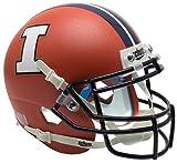 Schutt NCAA Illinois Illini Mini Authentic XP Football Helmet, Matte Orange Alt. 3, Mini