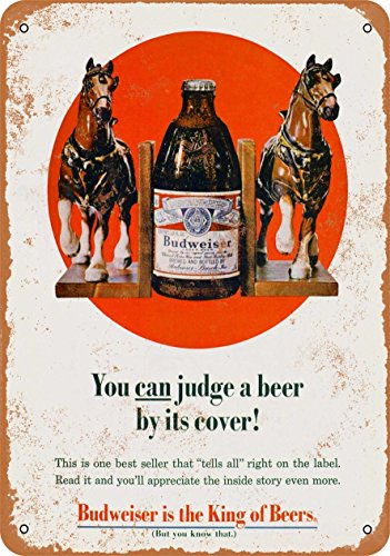 Wall-Color 7 x 10 METAL SIGN - 1969 Budweiser Clydesdales - Vintage Look Reproduction