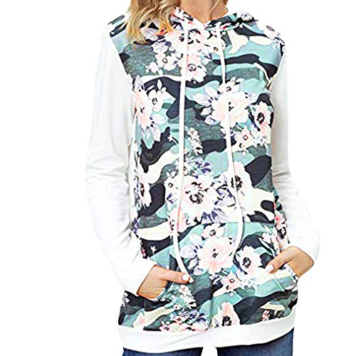 Dot Blue Tail Tie Bow (Woman Blouse, Limsea Floral Print Stitching Pocket Hooded Long Sleeve Sweatshirt(Blue,Medium))