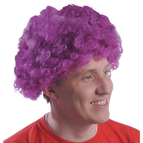 (DollarItemDirect Purple Team Spirit Afro Wig , Sold by 20 Pieces)