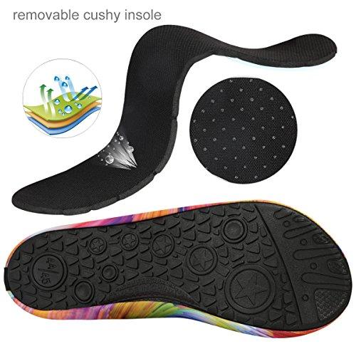 et Chaussons Rapide de pour d'eau Yoga Unisex Plage Plongée Chaussures Sports Aquatiques Natation et Surfing QIMAOO Le pour la Pliable Chaussures Adultes pour de Homme Enfants Multicolore 2 la Le et Femme Séchage n1xYFn5wpq