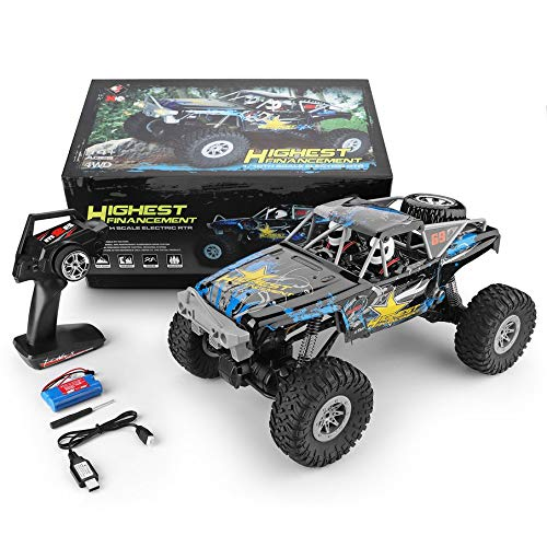 KNOSSOS Wltoys 104310 1 10 2.4G Electric Simulation RC off-Road Truck Car Crawler Toy(blu & giallo)