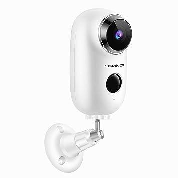 09aade738a8bb Caméra de Surveillance Batterie Rechargeable, Lemnoi 720P Caméra IP WiFi  extérieure/intérieure sans Fil