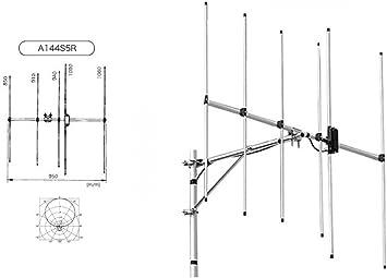 A144S5R Diamond-Antena elementos 144MHz Directiva 5