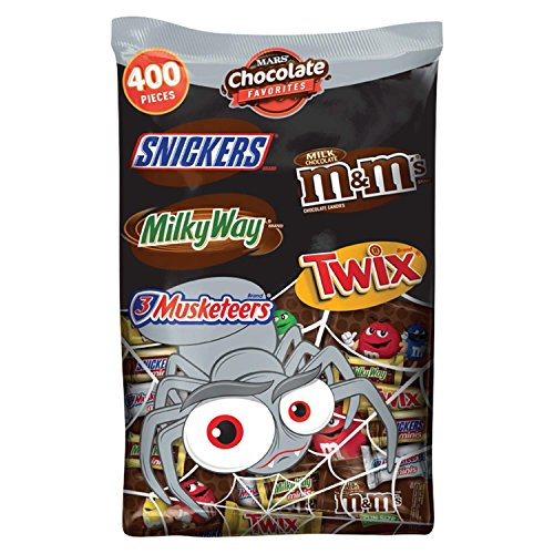MARS Chocolate Halloween Candy Variety Mix 126.3-Ounce 400-Piece Bag (Pack of 3)