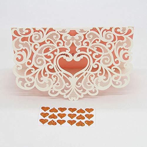 FidgetFidget Wedding Party Invitation Card Envelope Delicate Carved Romantic 2017 New 25 Pcs uff03uff15