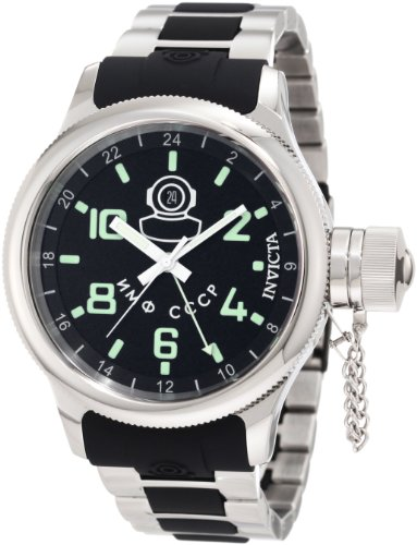Invicta Men s 7241 Signature GMT Black Dial Stainless Steel and Black Polyurethane Watch