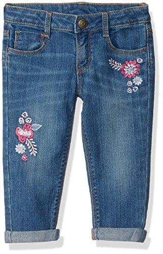 Gymboree Baby Girls Boyfriend Jeans, Medium wash Embroidered Flower, 2T