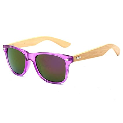 ad62f9435f Pausseo Bamboo Frame Sunglasses Wooden Mens Womens Retro Vintage Eyewear  Running Cycling Fishing Driving Safety Softball