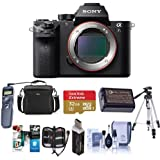 Sony Alpha a7S II Mirrorless Digital 4K Camera, - Bundle with Camera Bag, 32GB SDHC U3 Card, Tripod, Spare Battery, Remote Shutter Release, Cleaning Kit, Memory Wallet, Card Reader, Software Package