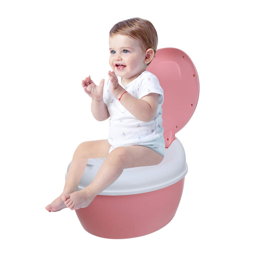 WONdere Auxiliary Toilet Child Toilet Seat Supplies Infant Baby Ladder Folding Toilet (Pink)