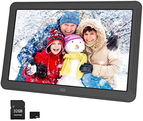 Atatat Digital Picture Frame 8 Inch with 1920×1080 IPS Screen, 32GB SD Card, Digital Photo Frame Support 1080P Video, Music, Photo Slideshow, Adjustable Brightness, Auto-Rotate,Breakpoint Play,Remote