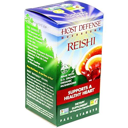 Host Defense - Reishi Capsules, Mushroom Support for Heart Health, 120 Count (FFP)