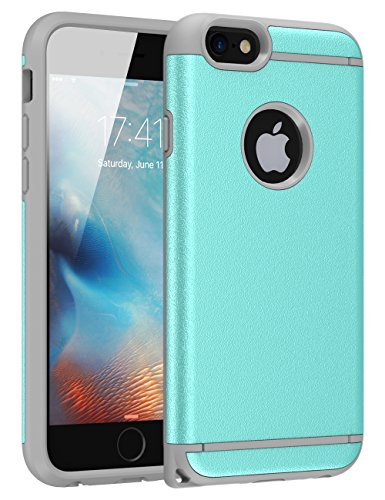 iPhone 6S Case, iPhone 6 Case ,6S Case CHTech Dual Layer Hybrid Slim Hard Case with Hard PC Cover and Soft Inner TPU for iPhone 6 6S – Mint Grey Review