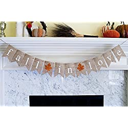 Fall In Love Burlap Banner