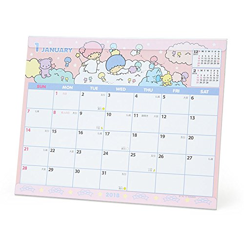 [Sanrio Little Twin Stars sheet calendar 2018 From Japan New] (Cat In The Hat Costume Nz)