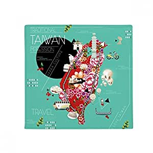 Traditonal Taiwan Impression - Alfombrilla antideslizante para mascota, cuadrada, 80 cm, ideal como regalo
