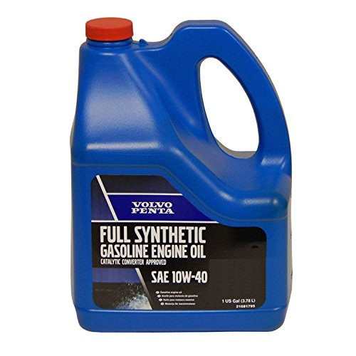 Synthetic Oil Gasoline - Volvo Penta New OEM 10W-40 Full Synthetic Gasoline Engine Oil, 21681795