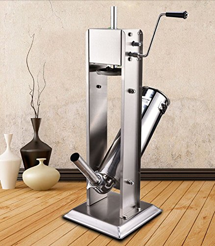 5L 15lbs Commercial Stainless Steel Vertical Sausage Stuf...