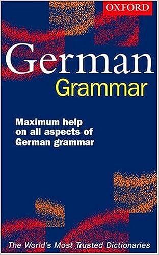 Oxford Easy German Grammar by William Rowlinson (2000-12-15)