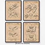 Best Gifts For Gamers - Original Nintendo Video Games Patent Art Poster Prints Review