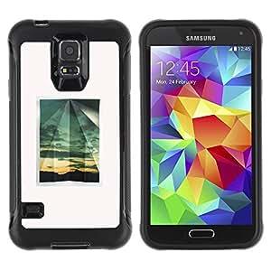 LASTONE PHONE CASE / Suave Silicona Caso Carcasa de Caucho Funda para Samsung Galaxy S5 SM-G900 / Summer Minimalist Window White