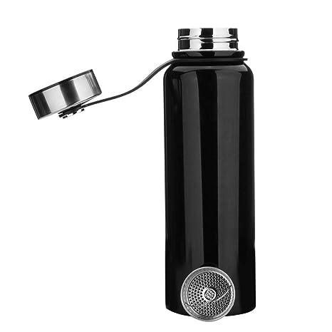 Botella de agua de acero inoxidable de 1,5 l, botella de agua deportiva sin fugas, botella de agua para correr, gimnasio, ciclismo, múltiples ...
