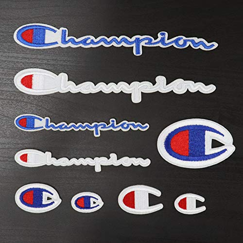 9 Pack Champion Patches Set Sew on or Iron on Multi Size Patch Embroidered DIY Applique Badge Decorative (Champion Patches)