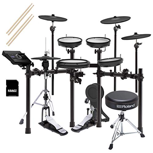 Roland TD17KVX V-Drums Kit with Roland Hi-Hat Stand, Pedal, Throne, and Sticks