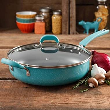 The Pioneer Woman Vintage Speckle Non-Stick Jumbo Cooker, Turquoise