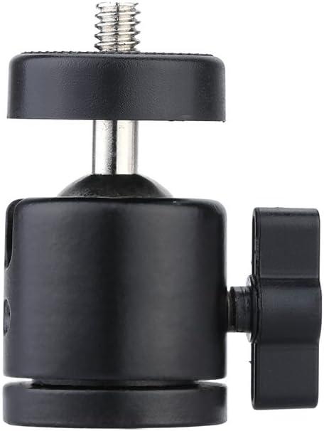 "Andoer Mini 1//4/""Ball Head Flash Bracket Holder Mount for Camera Tripod NEW O8X4"