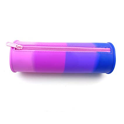 amazon com cylinder pencil pouch silicone pencil pouch for kids