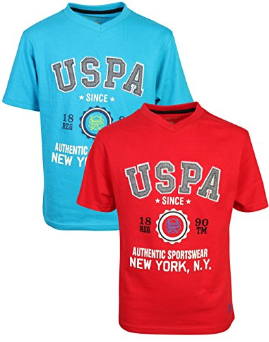 U.S. Polo Assn. Boy's Short Sleeve Graphic T-Shirt (2 Pack)