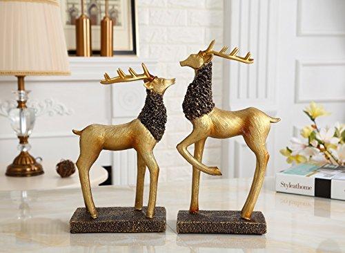 American deer Village living room TV cabinet cabinet retro ornament crafts Home Furnishing Nordic entrance zj01261009 by Supper pp