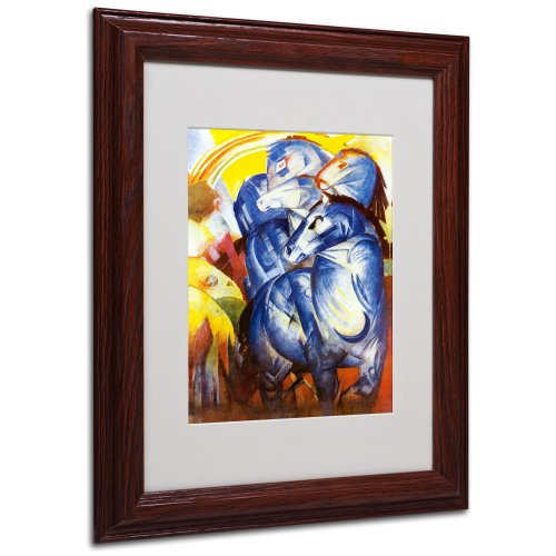 A Tower of Blue Horses 1913 Artwork by Franz Marc, Wood Frame, 11 by 14-Inch